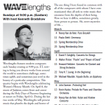 "WCPE 89.7 FM North Carolina broadcast of ""In the Beginning"""